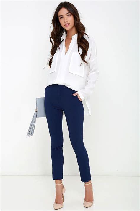 Vixen Vocation Navy Blue Trouser Pants | Pinterest | Blue trousers Vixen and Navy blue