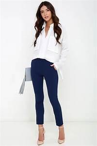 Vixen Vocation Navy Blue Trouser Pants   Pinterest   Blue trousers Vixen and Navy blue
