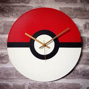 Pokemon pokeball vinyl clock