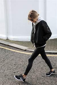 Bomber + sweatshirt + leggings + nike sneakers | u2022workout styleu2022 | Pinterest | Sweatshirt ...