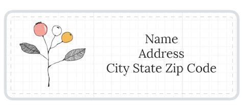 stylish address label templates