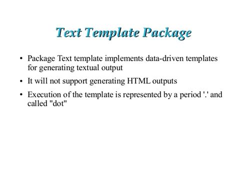 golang template golang template
