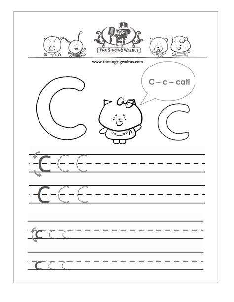 Letter C Handwriting Worksheets Worksheets For All  Download And Share Worksheets  Free On