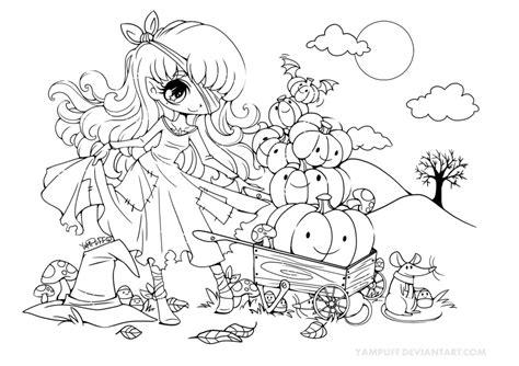 Halloween Pumpkin Princess Lineart By Yampuff On Deviantart