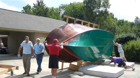 home built wooden boat flip turnover youtube