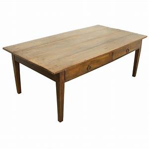 antique french two drawer cherry coffee table for sale at With cherry coffee table with drawers
