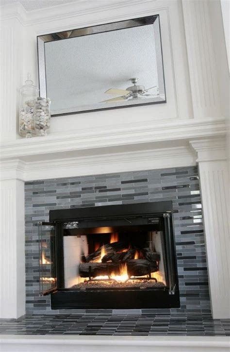 mosaic tile on fireplace tile design ideas