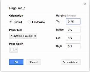 Google docs tricks and tips change the default page size for Google docs change page size