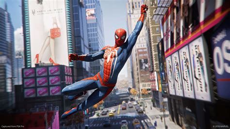 wallpaper spider man ps video game hanging   uhd  widescreen