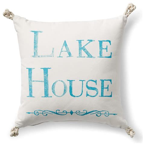 lake house pillows lake house outdoor pillow with knots traditional