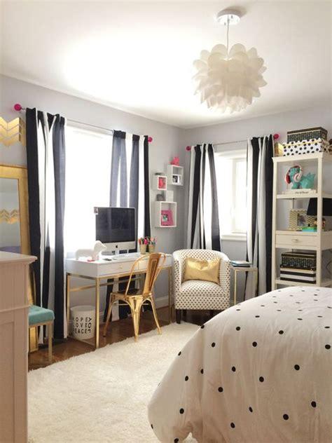 pretty black  white bedroom  girls homemydesign