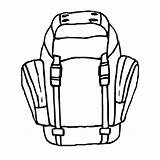 Backpack Hiking Coloring Pages Drawing Ready Getdrawings sketch template