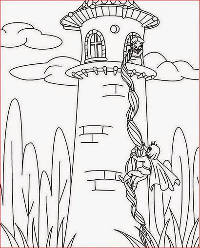Rapunzel Coloring Tangled Pages Tower Hair Disney