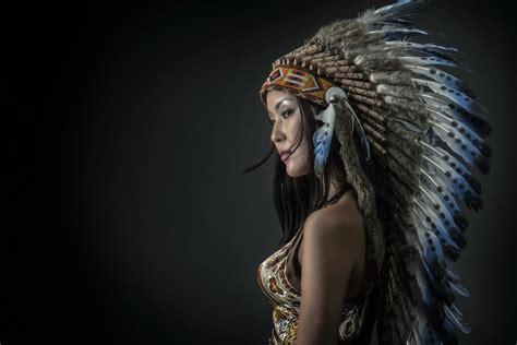 apache costume girl HD wallpaper