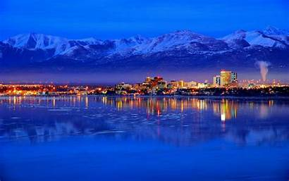 Alaska Wallpapers Anchorage Night Places Winter Historical