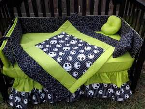 new crib bedding set m w nightmare before fabric ebay
