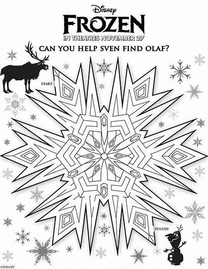 Frozen Activity Disney Olaf Marshmallow Movie Maze