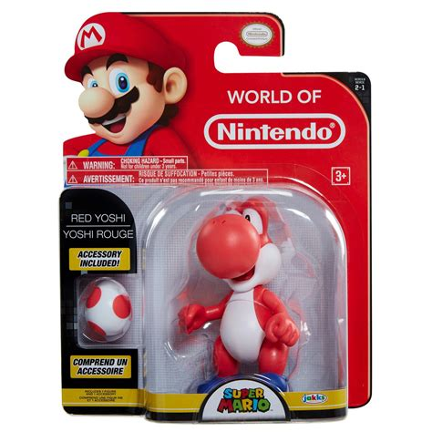 Super Mario Red Yoshi With Egg Action Figure Gamestop