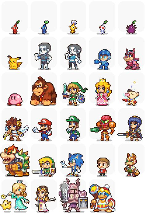 Awesome Pixel Sprites Pixel Art Character Models Mario