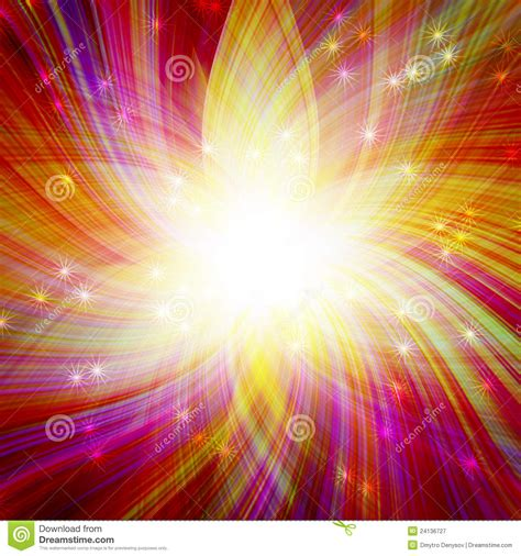 colorful magic glowing colorful magic burst royalty free stock