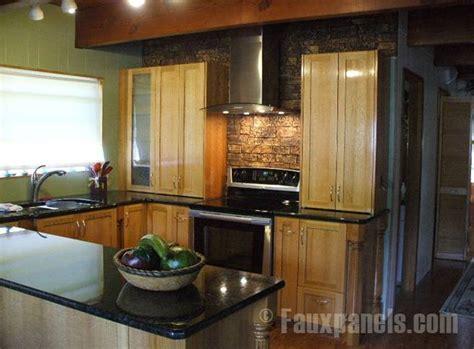 Stacked Stone Backsplash Ideas : Slate Backsplash & Granite Countertop