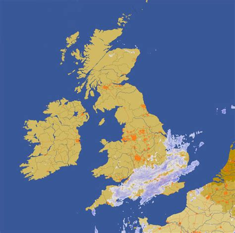 range weather forcast for uk radar map where will the fall today weather news express co uk