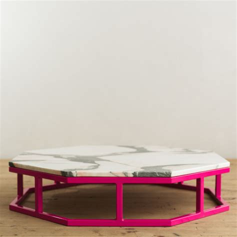 granite and steel octagon coffee table factor fabrication