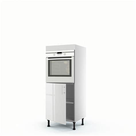 cuisine avec colonne meuble de cuisine demi colonne blanc four 1 porte h