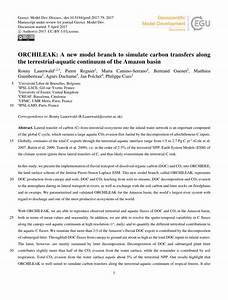 (PDF) ORCHILEAK: A new model branch to simulate carbon ...