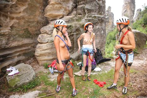 Sara Coul And Her Friends Go Naked Rock Climbing 2 Of 2