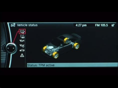bmw tire pressure monitor youtube
