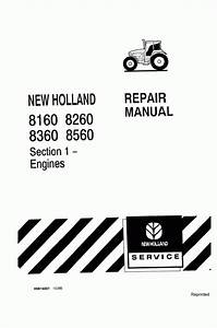 New Holland 8160  8260  8360  8560 Service Manual