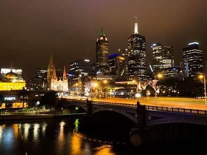 Melbourne Australia Yarra Night Cbd Skyline Victoria