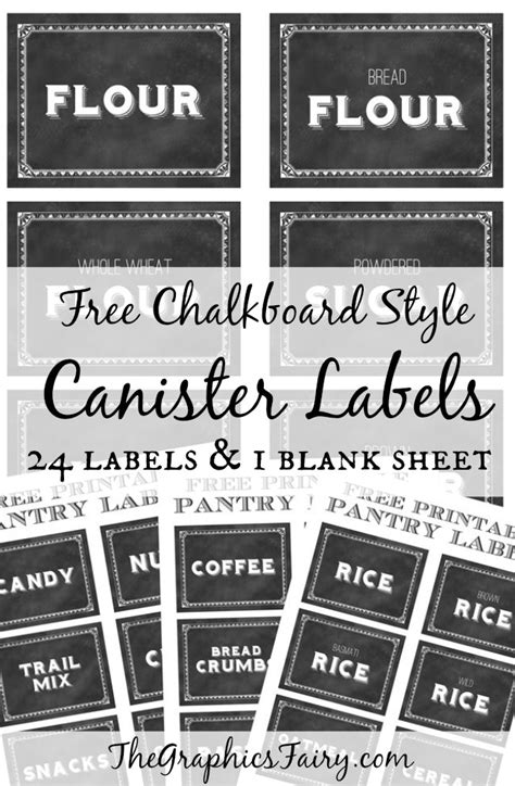 printable canister labels  graphics fairy