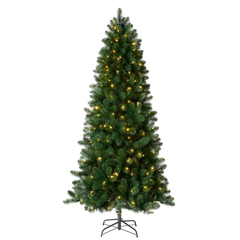 artifical trees with highest tip count living 7 5 ft 742 count pre lit welch artificial tree color changing 300