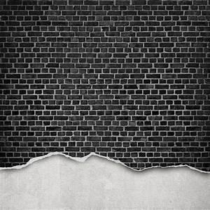 » Black And White Brick Wallpaper