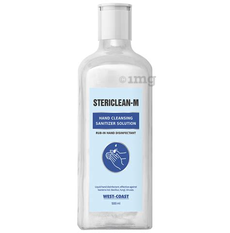Stericlean M Hand Cleansing Sanitizer Solution 500ml Each