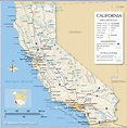 Reference Maps of California, USA - Nations Online Project