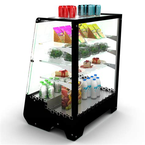 tower refrigerated countertop display case refrigerated