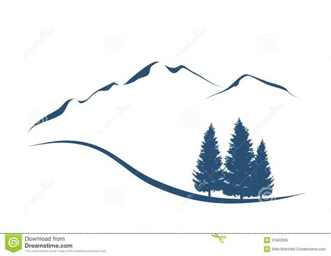 recycling logos mountains and firs royalty free stock photo image 31602065