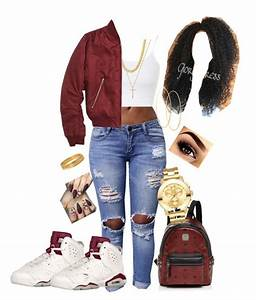 Maroon Jordan 6's 😍 | Polyvore fashion, Bald hairstyles ...