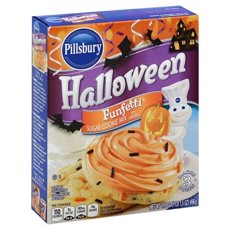 If you like a sweeter cookie, add a little extra sugar.brif the dough is too crumbly add a teaspoon of water, and if still too crumbly add another teaspoon and knead it. Pillsbury Halloween Funfetti Cookie Mix - Shop Baking Mixes at H-E-B