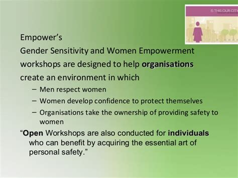empowers women empowerment workshops