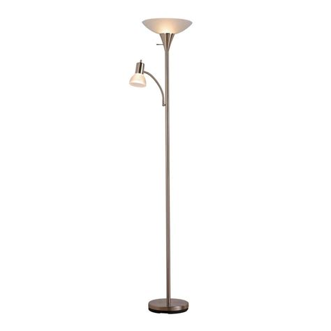 torchiere l shade replacement home depot hton bay 71 25 in brushed nickel torchiere floor l
