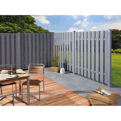 Sichtschutz Garten Holz Grau by Sichtschutzzaun Element Seattle Grau 180 X 180 Cm Kaufen