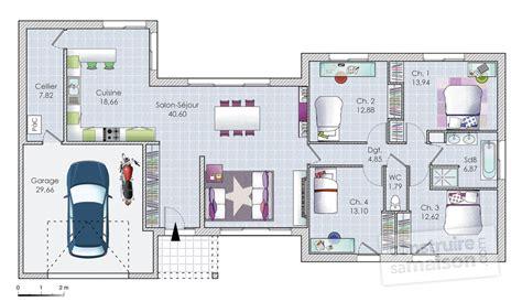 plan maison 120m2 3 chambres merveilleux plan maison 120m2 3 chambres 3 plan maison