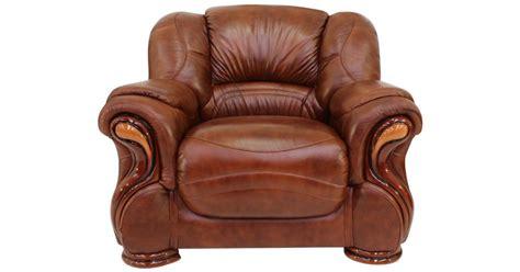 Susanna Italian Leather Armchair Tabak Brown Offer