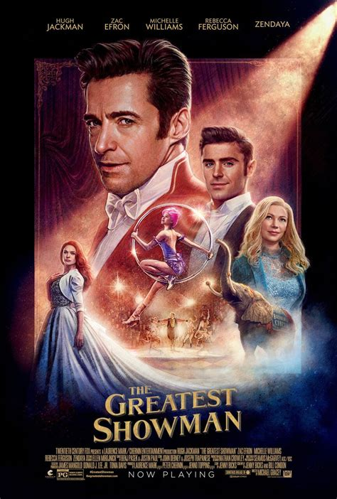 The greatest showman is a musical starring hugh jackman, michelle williams, zac efron and zendaya. The Greatest Showman Movie Poster (Click for full image ...