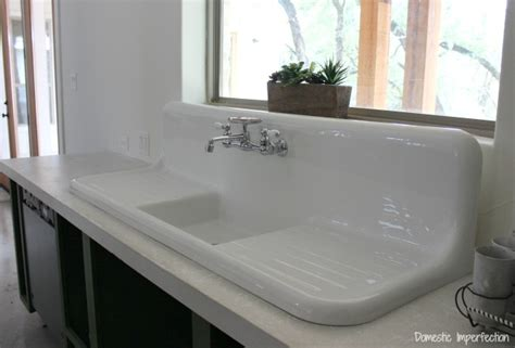 porcelain kitchen sink with drainboard the search for a vintage farmhouse sink domestic 7541