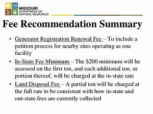 David Lamb, Missouri DNR, Hazardous Waste Fee Update ...